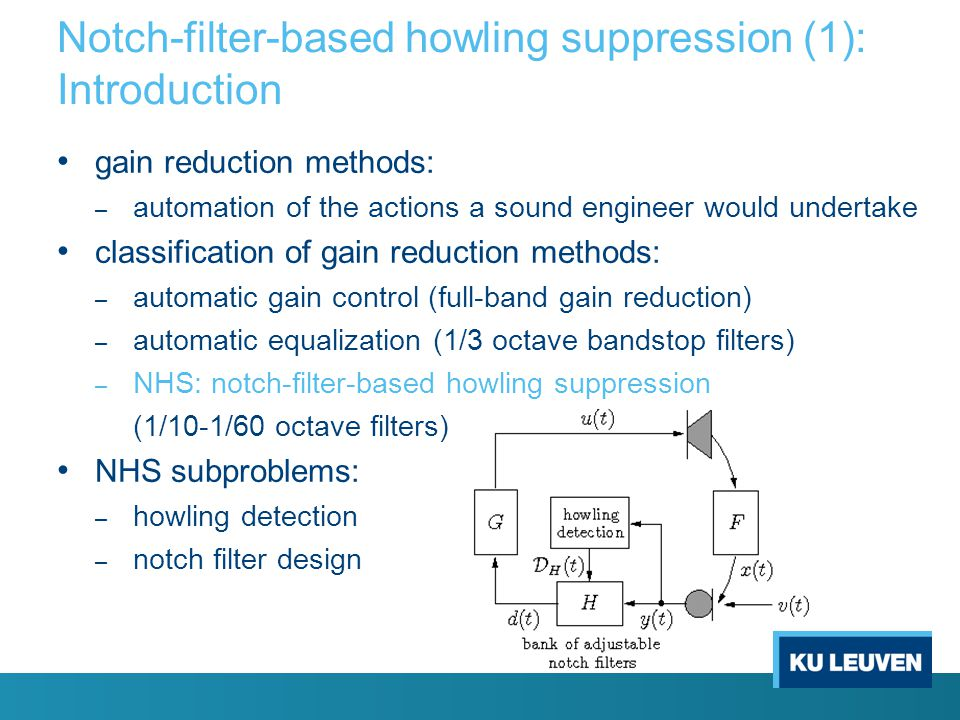 Notch-filter-based howling suppression (1): Introduction