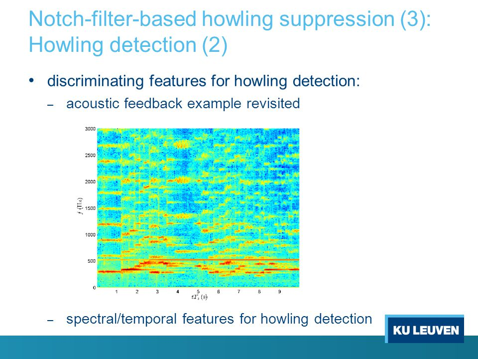 Notch-filter-based howling suppression (3): Howling detection (2)
