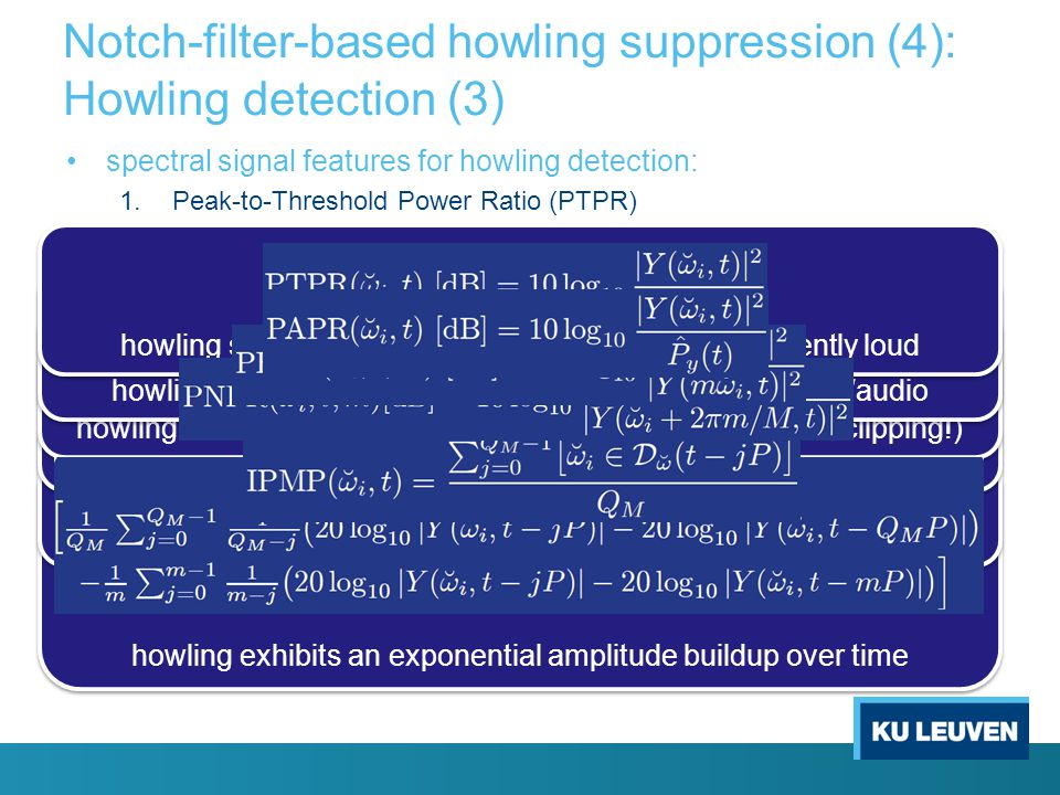 Notch-filter-based howling suppression (4): Howling detection (3)