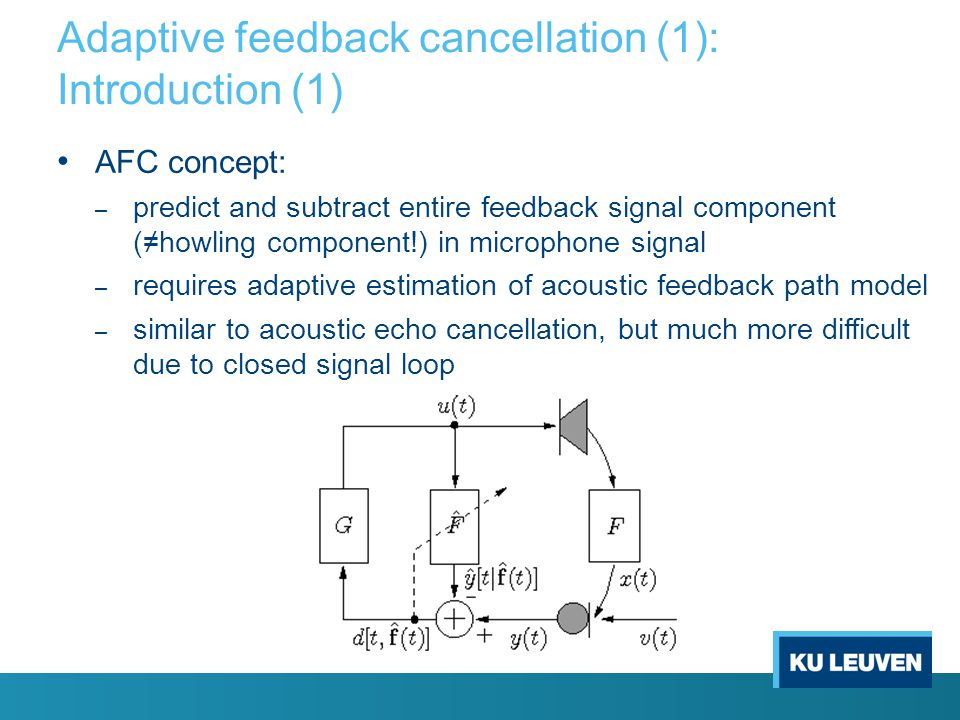 Adaptive feedback cancellation (1): Introduction (1)