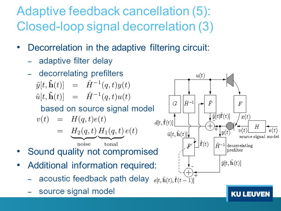 Adaptive feedback cancellation (5): Closed-loop signal decorrelation (3)