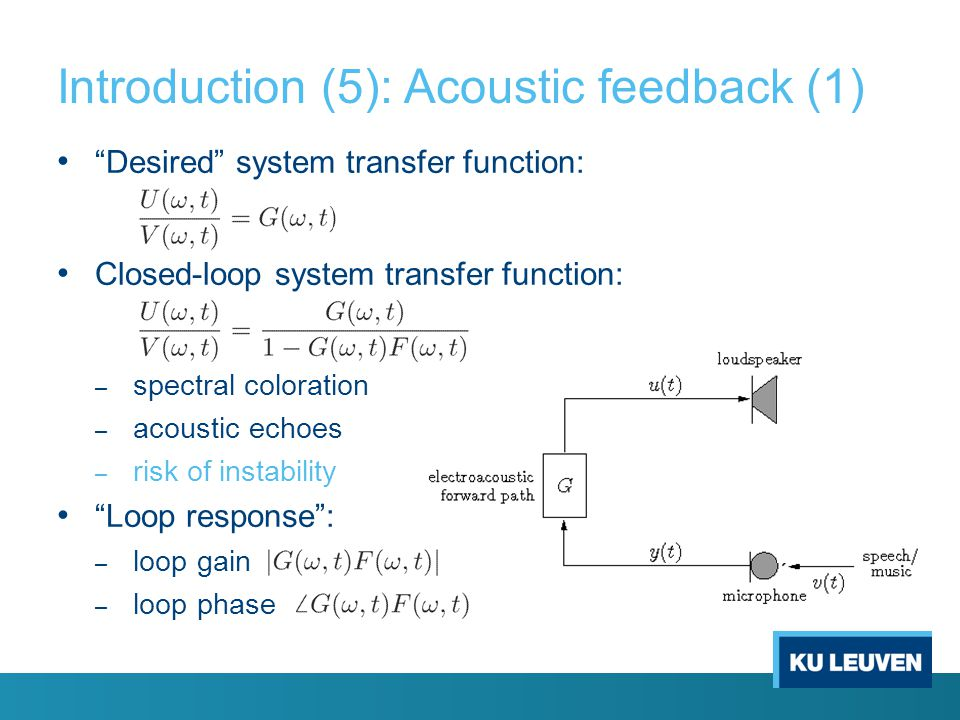 Introduction (5): Acoustic feedback (1)