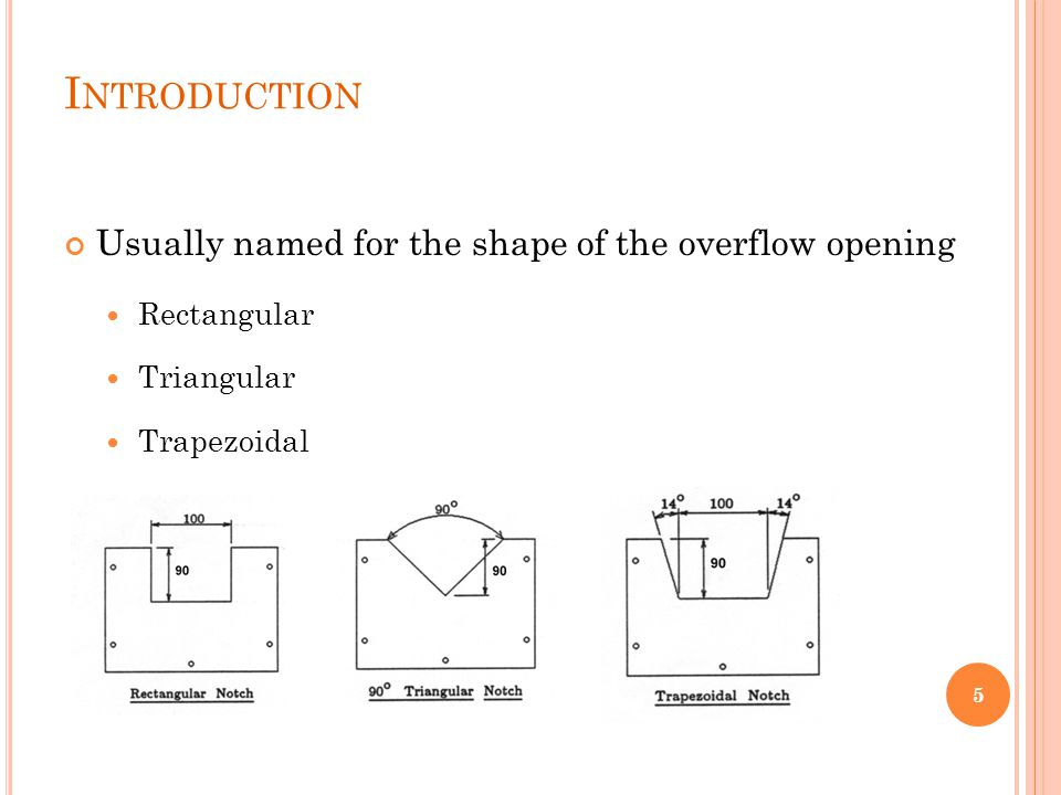 Introduction Usually named for the shape of the overflow opening