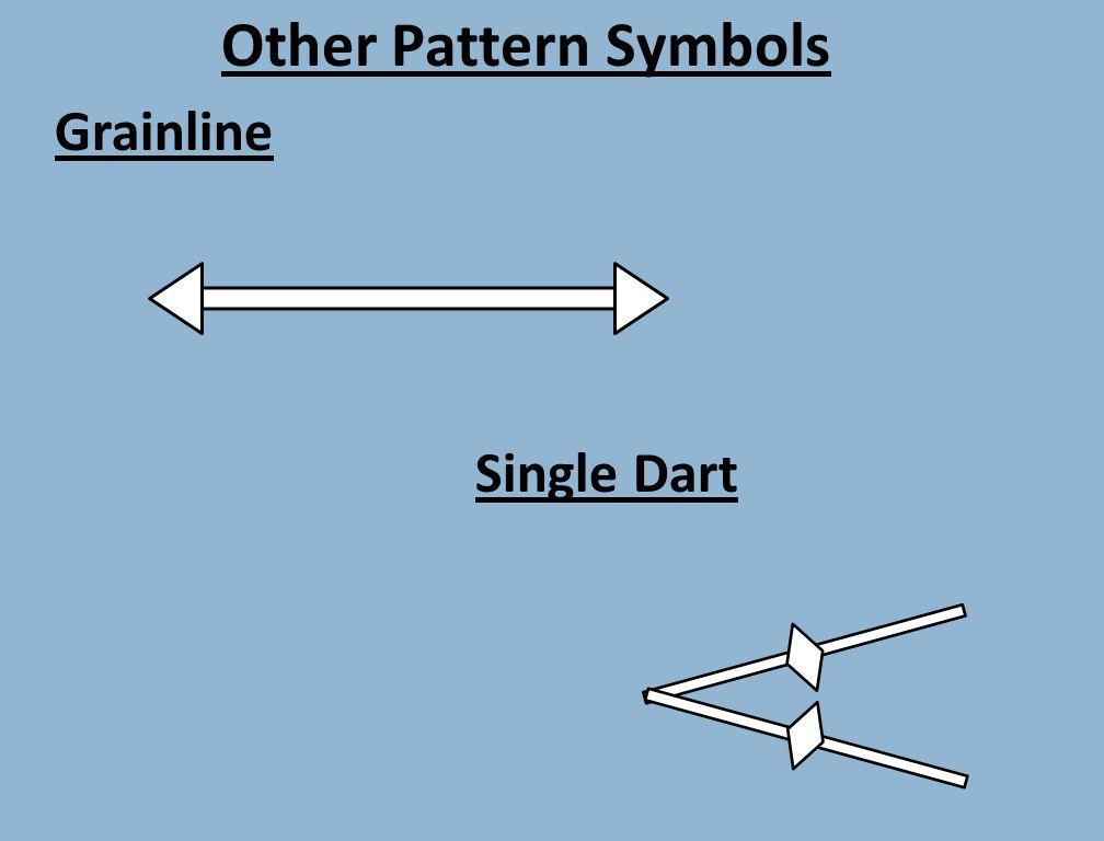 Other Pattern Symbols Grainline Single Dart