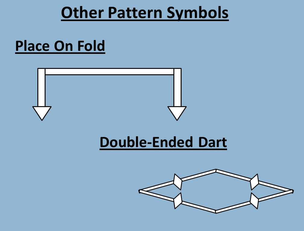 Other Pattern Symbols Place On Fold Double-Ended Dart