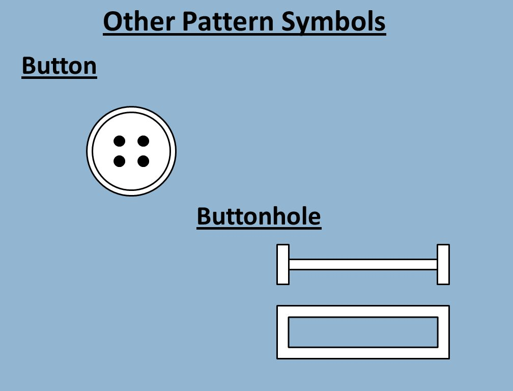Other Pattern Symbols Button Buttonhole