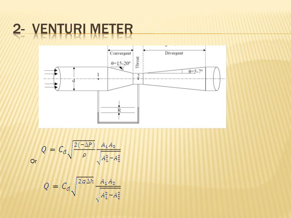 2- Venturi meter Or