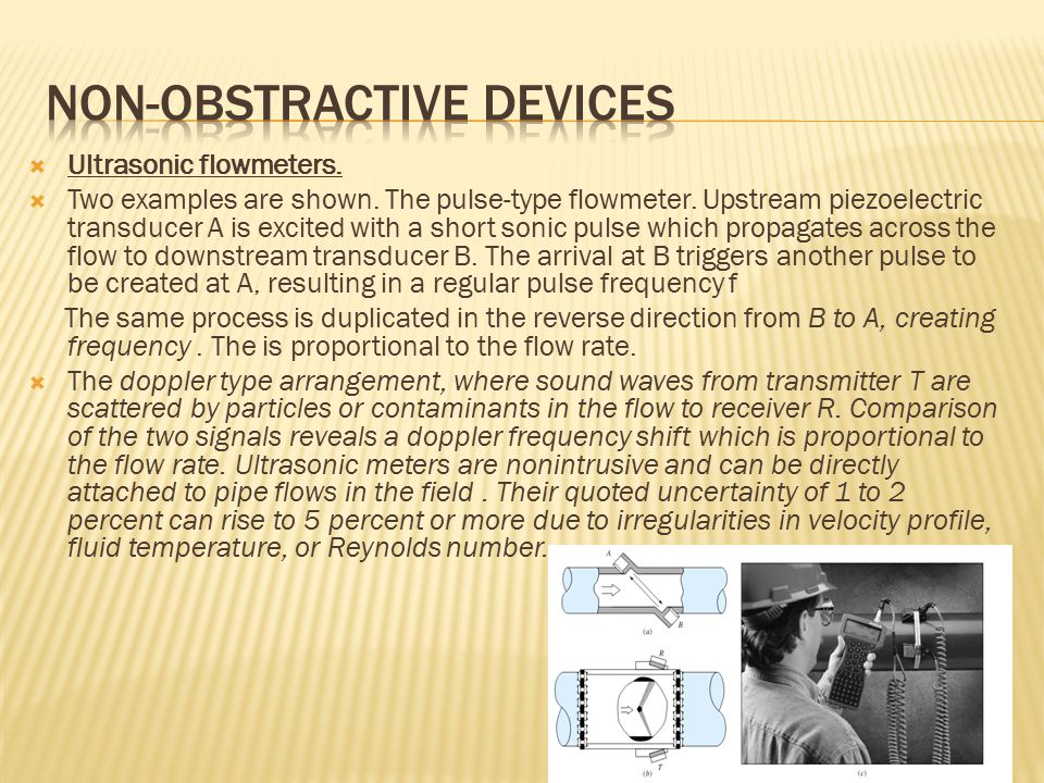 Non-obstractive devices