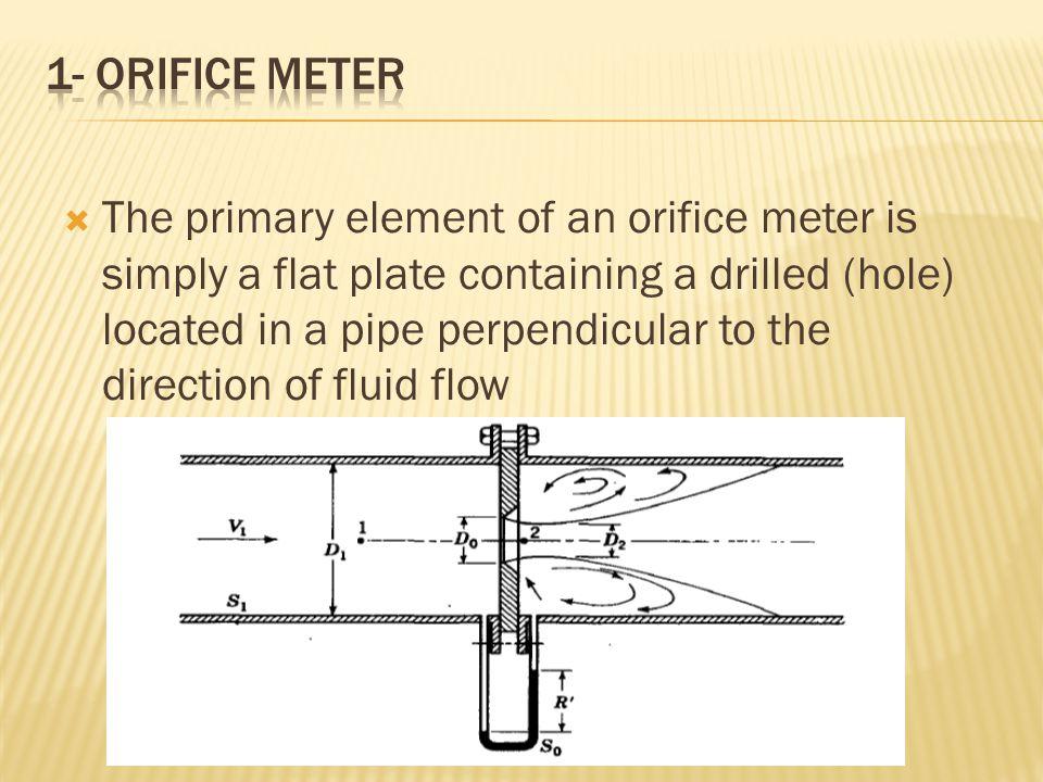 1- Orifice meter