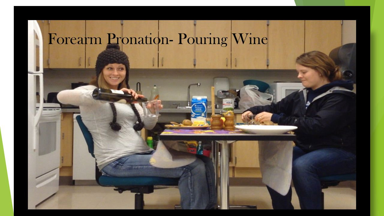 Forearm Pronation- Pouring Wine