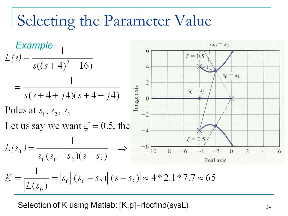 Selecting the Parameter Value
