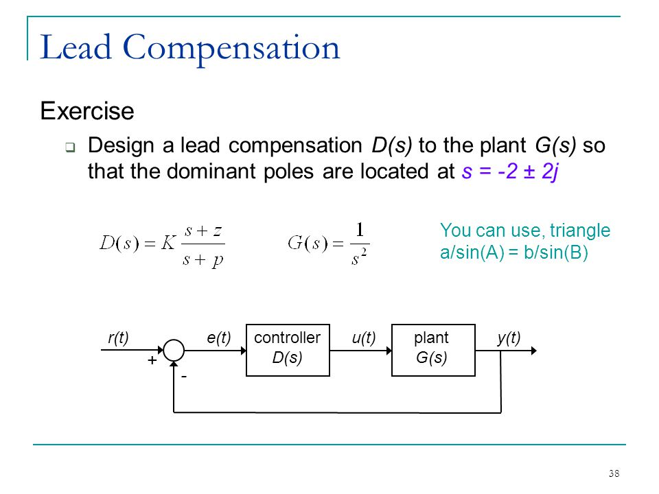 Lead Compensation Exercise