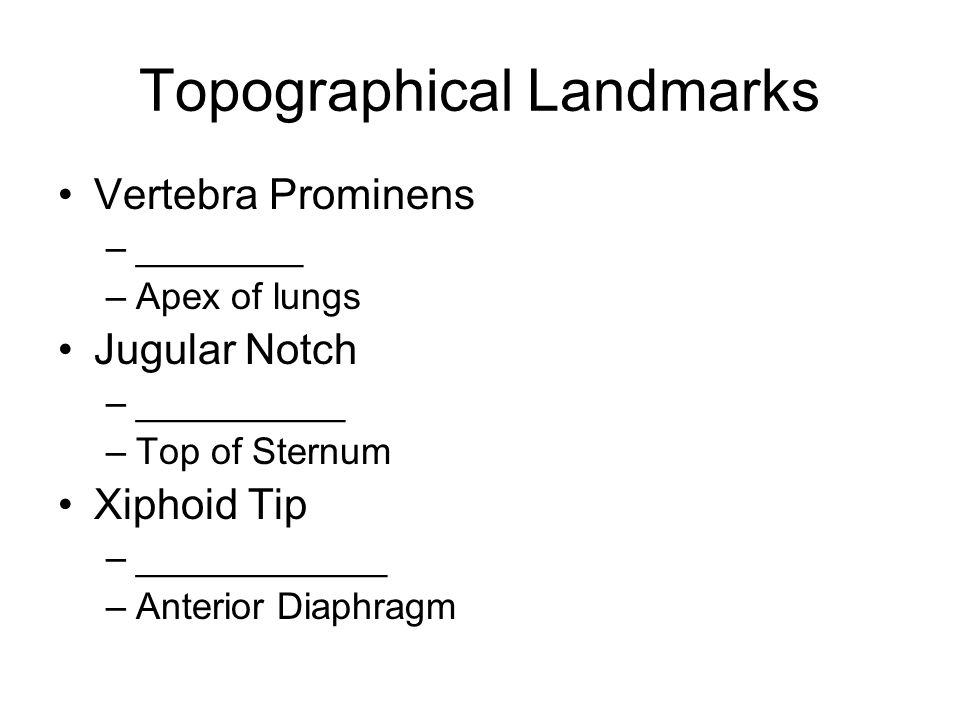 Topographical Landmarks