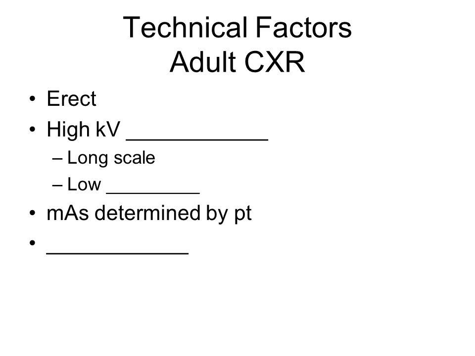 Technical Factors Adult CXR