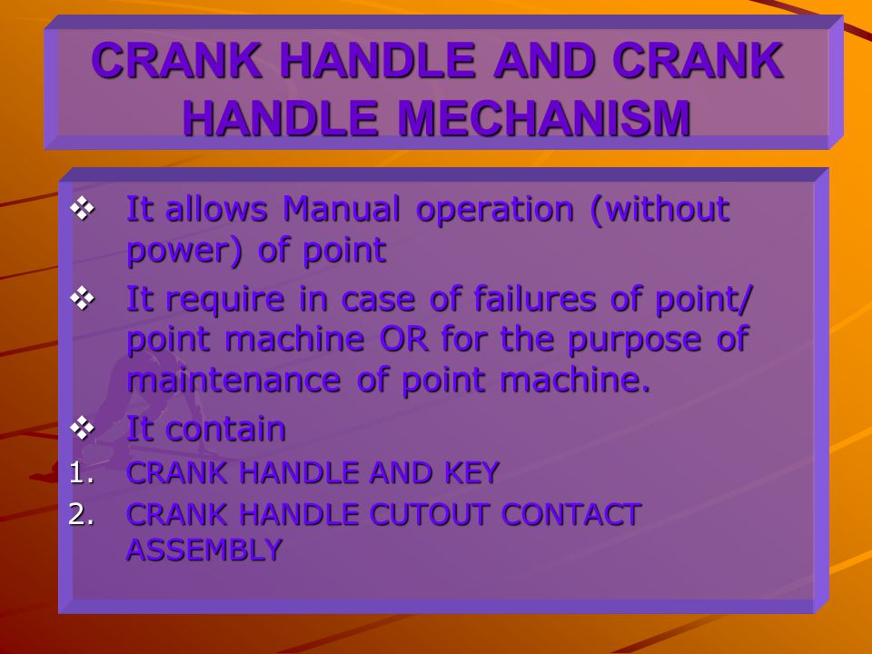 CRANK HANDLE AND CRANK HANDLE MECHANISM