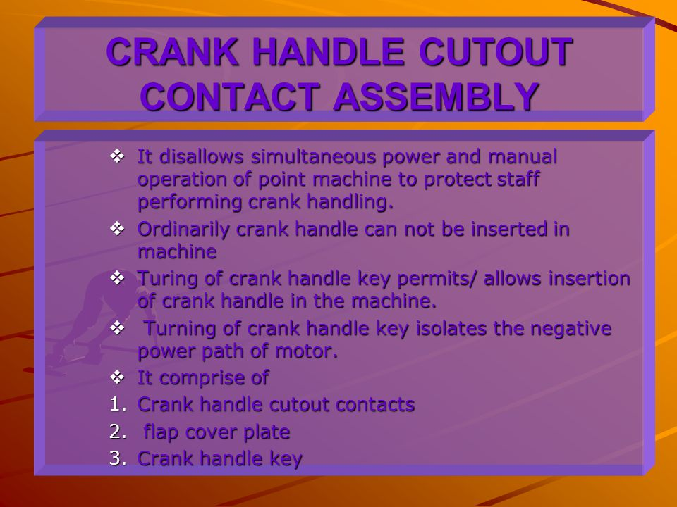 CRANK HANDLE CUTOUT CONTACT ASSEMBLY