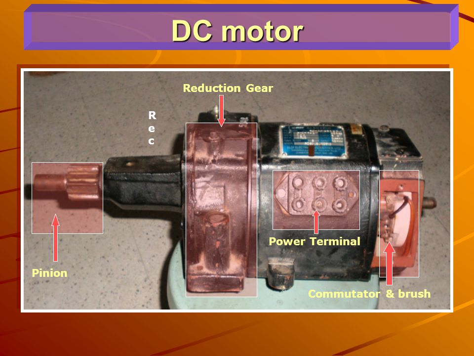 DC motor Reduction Gear Rec Power Terminal Pinion Commutator & brush
