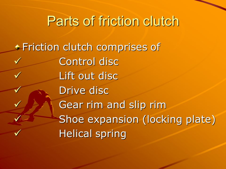 Parts of friction clutch