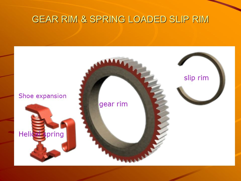 GEAR RIM & SPRING LOADED SLIP RIM