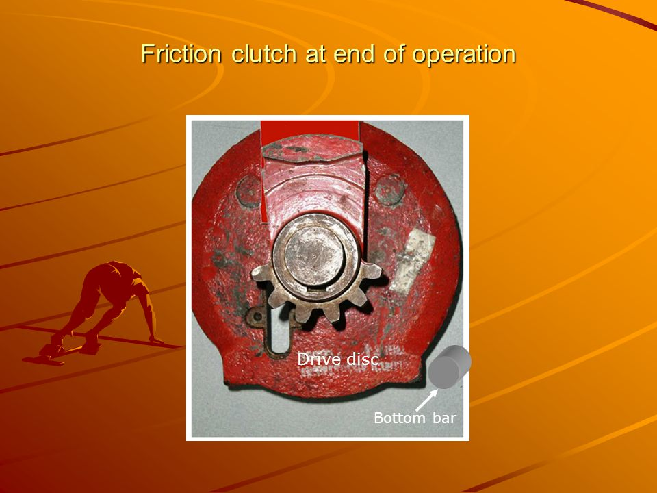 Friction clutch at end of operation