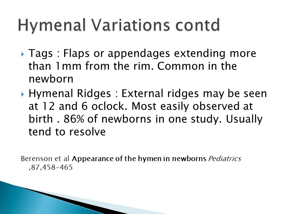 Hymenal Variations contd