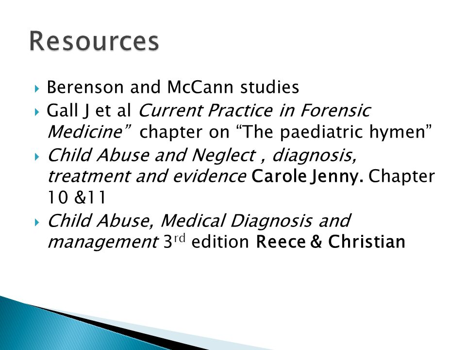 Resources Berenson and McCann studies