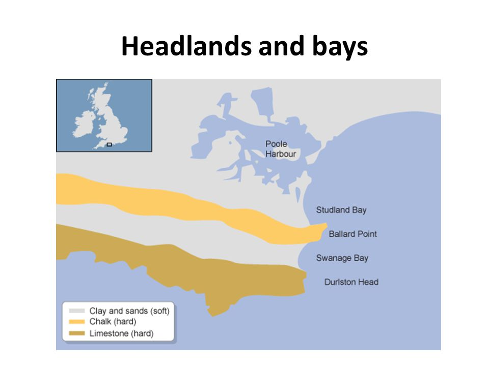 Headlands and bays