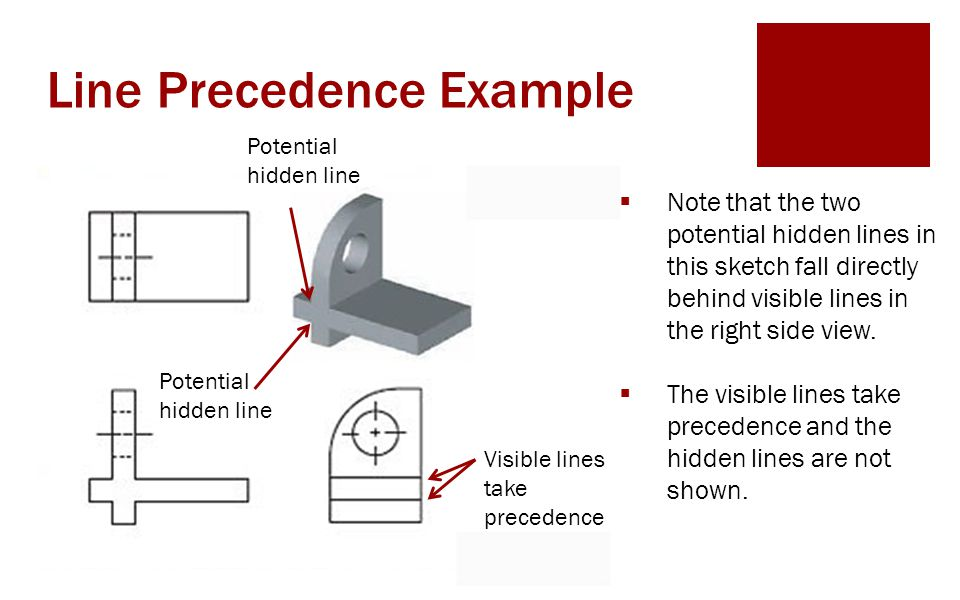 Line Precedence Example