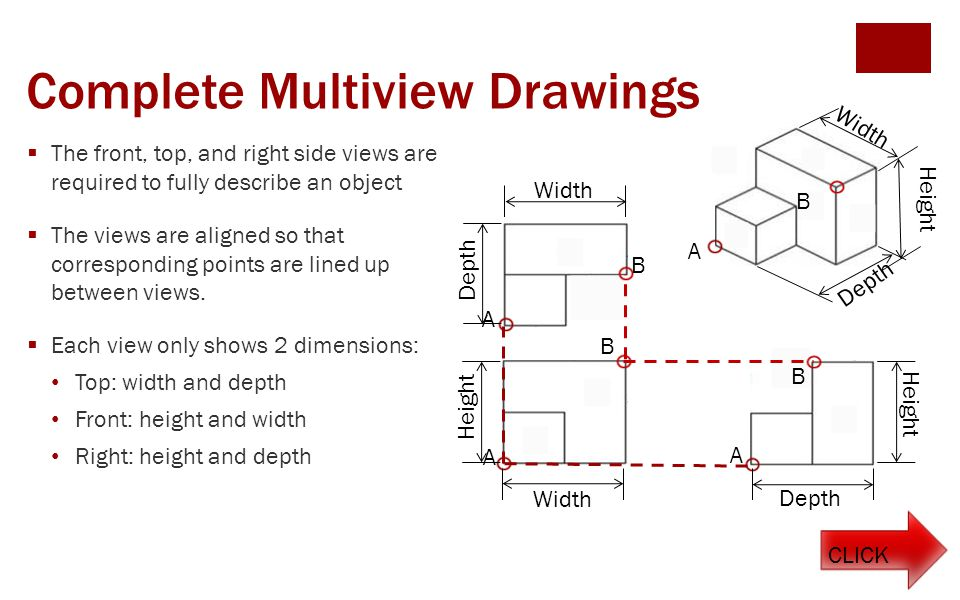Complete Multiview Drawings