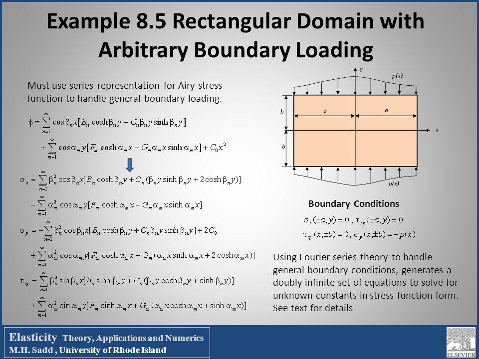 Example 8.5 Rectangular Domain with Arbitrary Boundary Loading