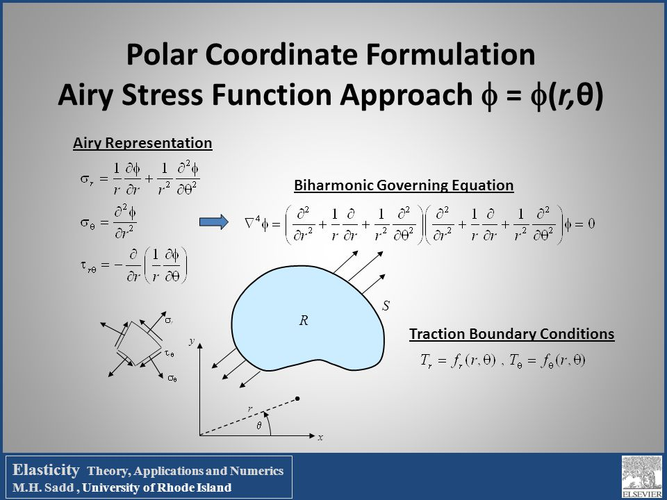 Polar Coordinate Formulation Airy Stress Function Approach  = (r,θ)