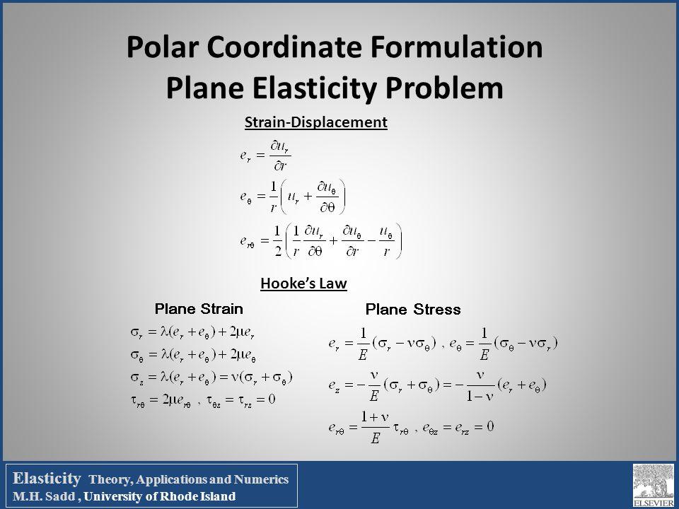 Polar Coordinate Formulation Plane Elasticity Problem