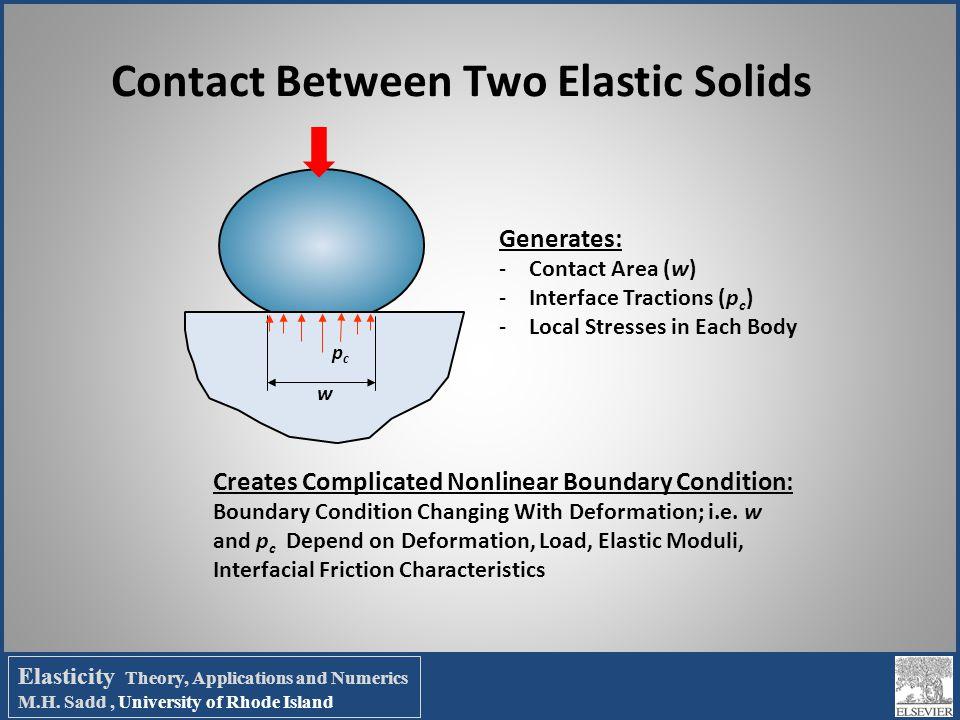 Contact Between Two Elastic Solids