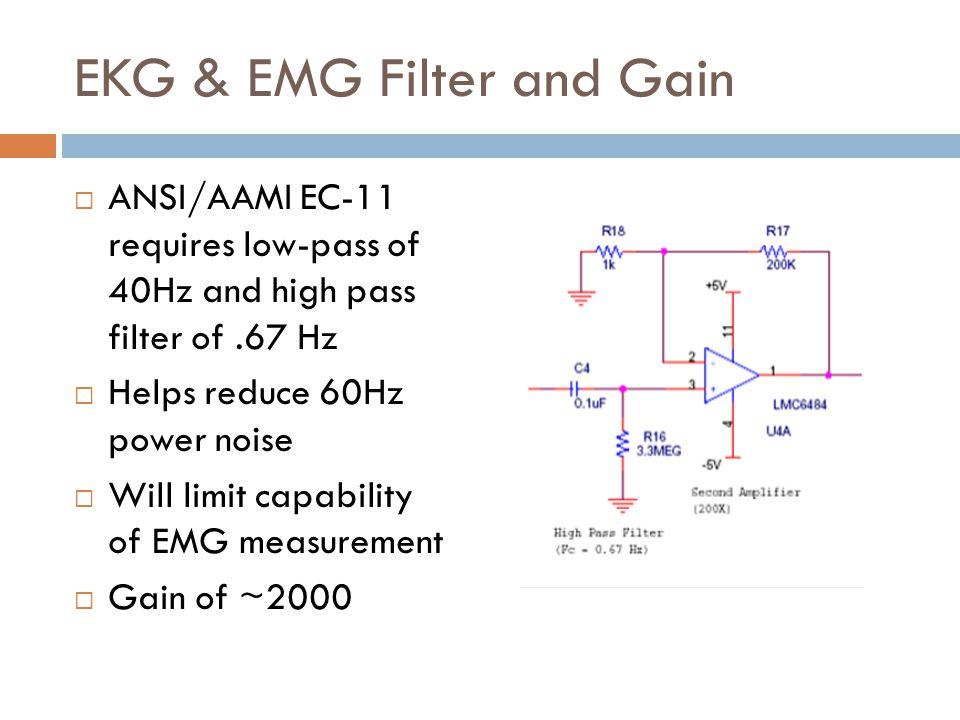 EKG & EMG Filter and Gain