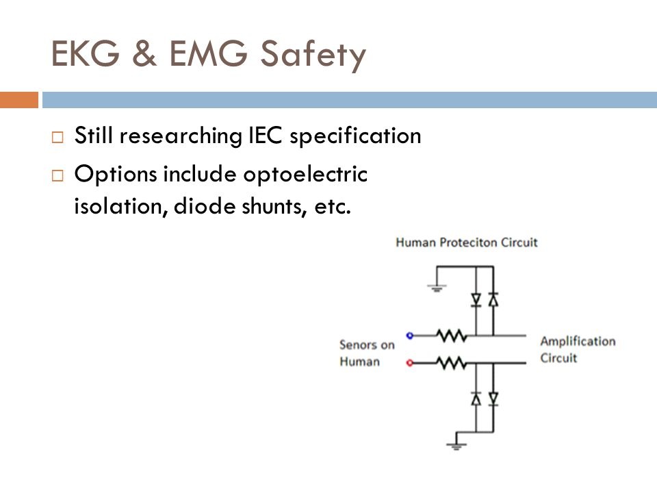 EKG & EMG Safety Still researching IEC specification