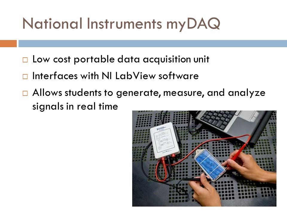 National Instruments myDAQ
