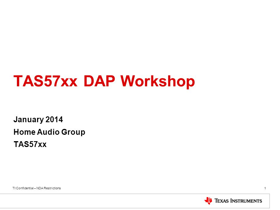 January 2014 Home Audio Group TAS57xx