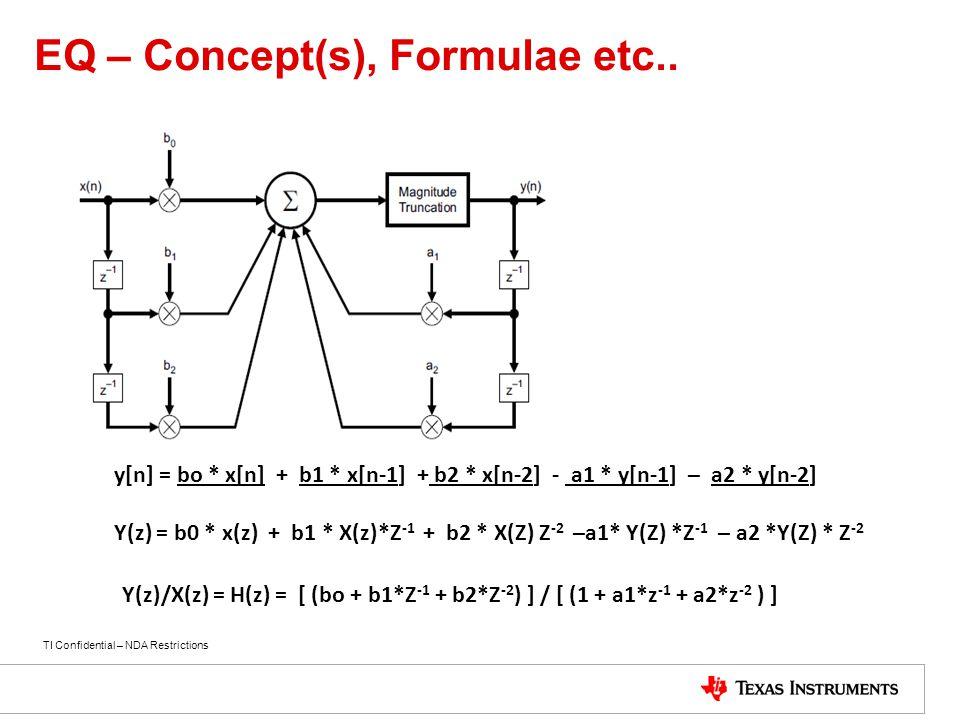 EQ – Concept(s), Formulae etc..