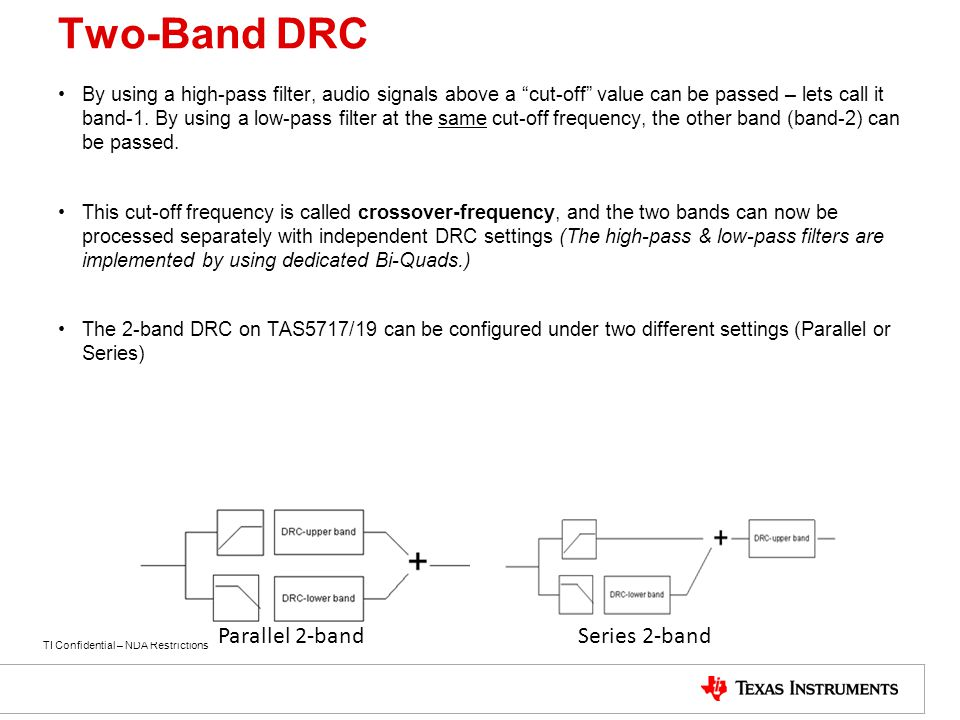Two-Band DRC Parallel 2-band Series 2-band