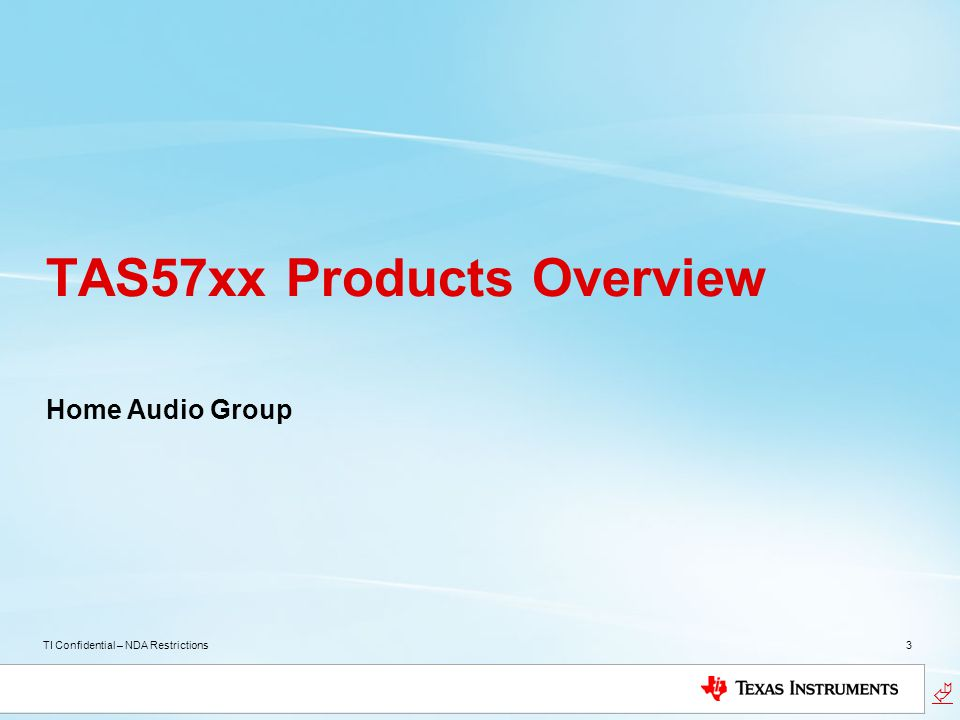 TAS57xx Products Overview