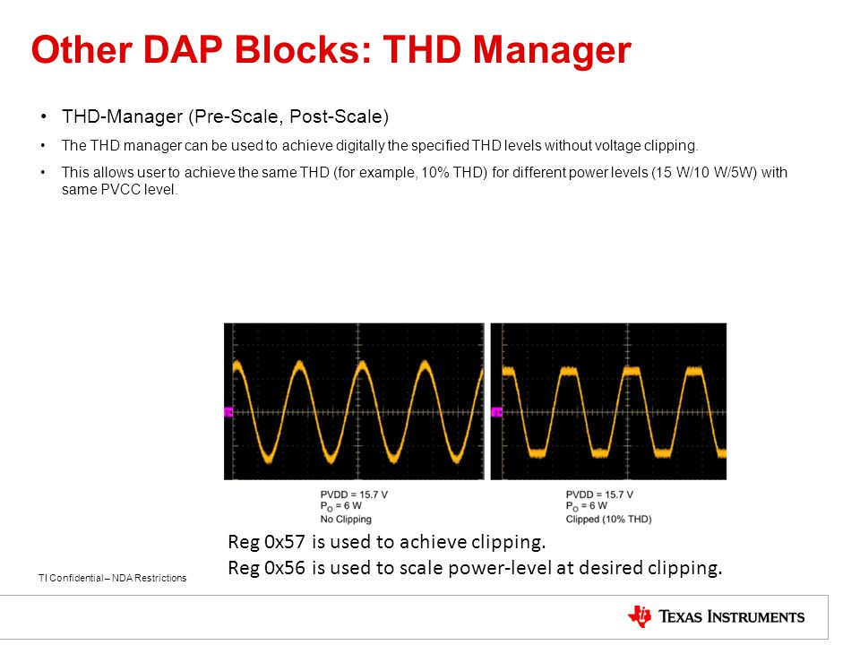 Other DAP Blocks: THD Manager