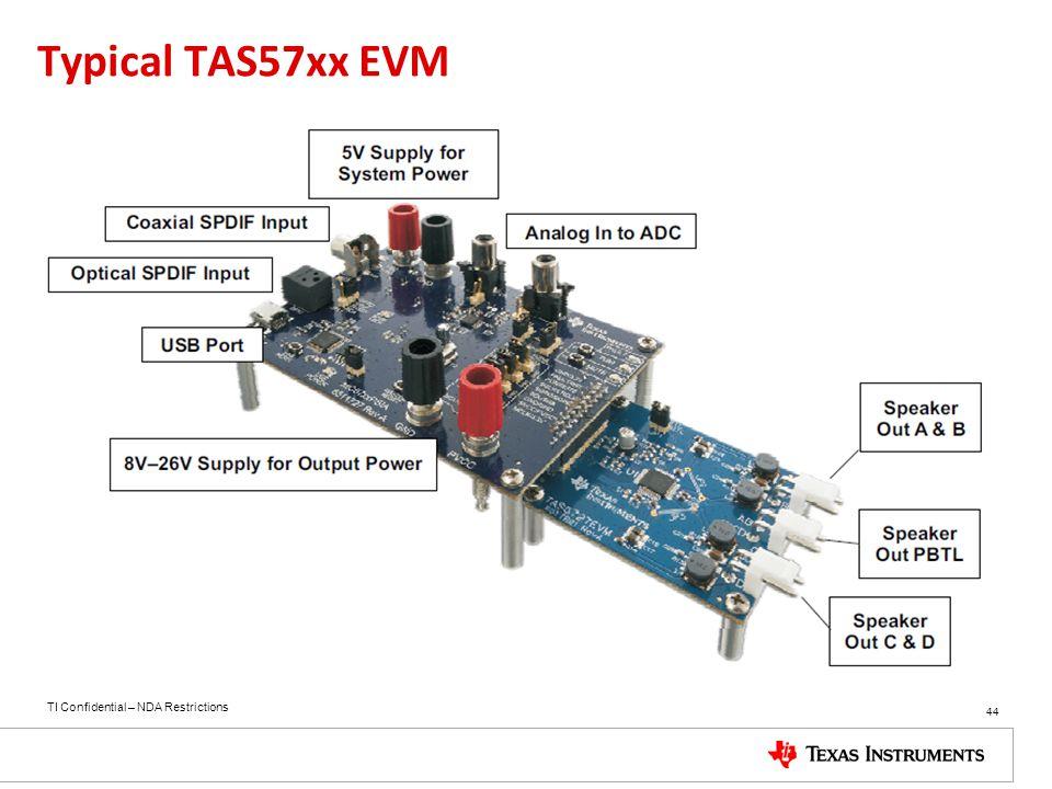 Typical TAS57xx EVM 44 44