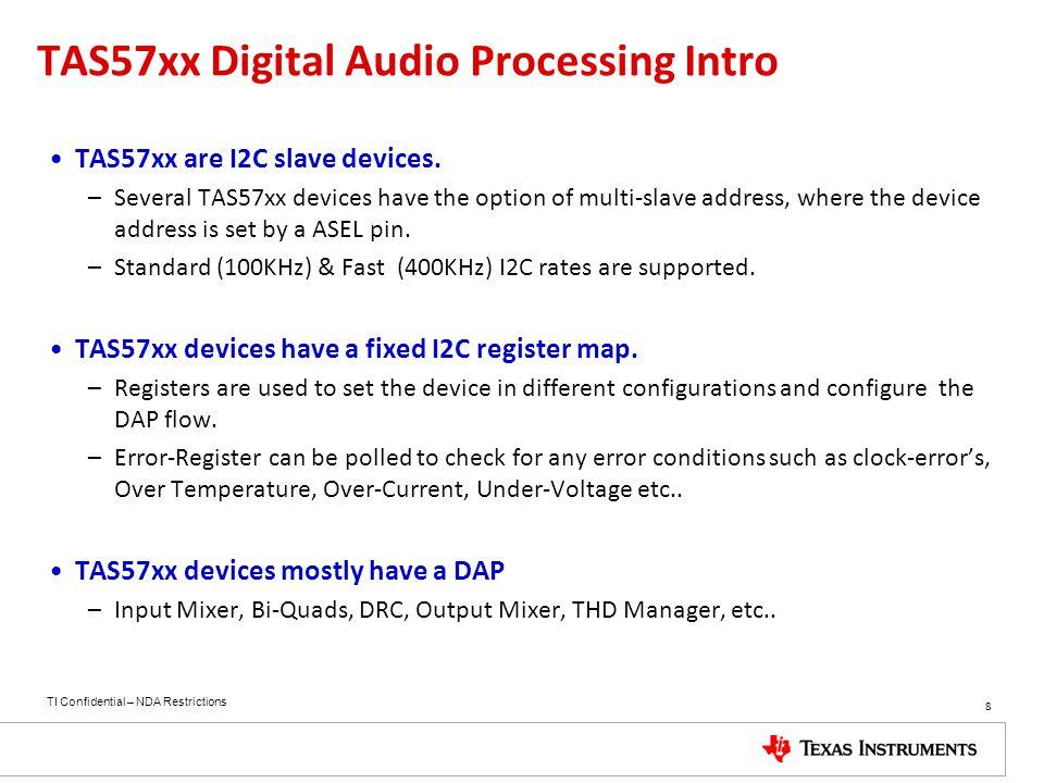 TAS57xx Digital Audio Processing Intro