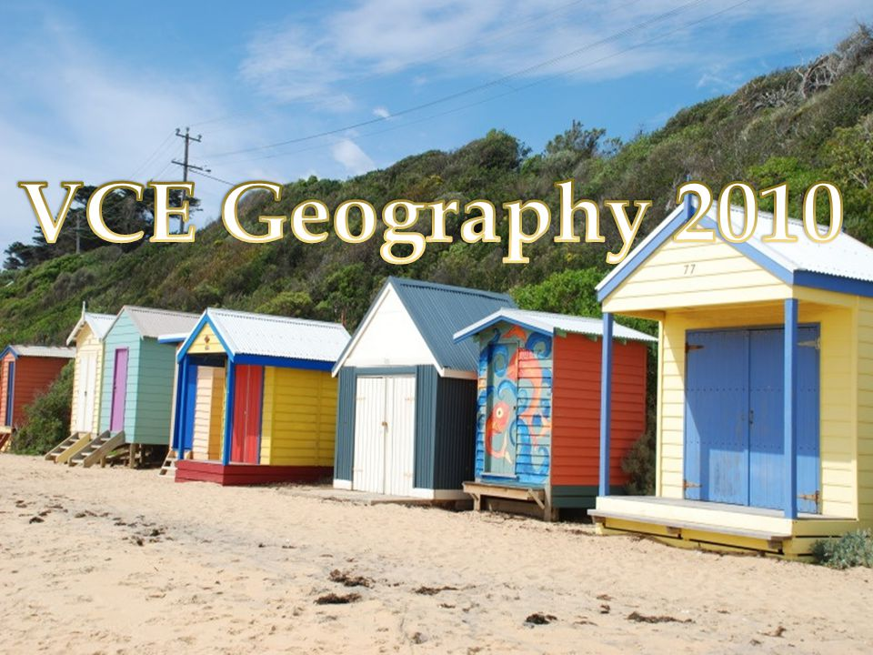 VCE Geography 2010