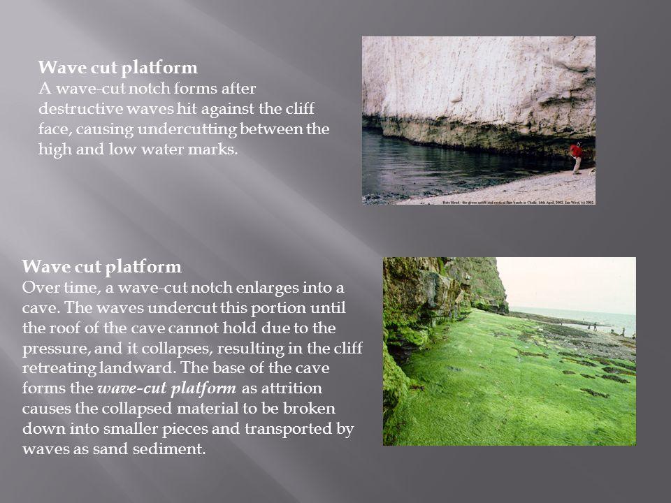 Wave cut platform Wave cut platform