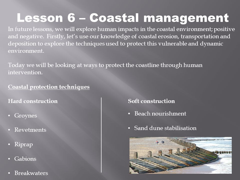 Lesson 6 – Coastal management