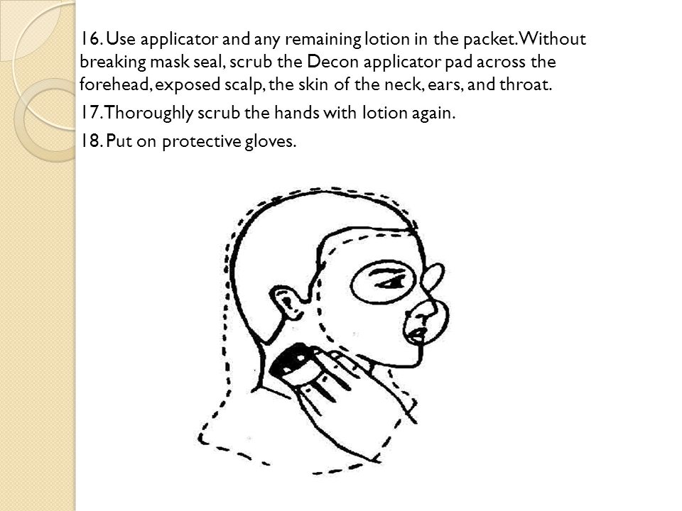 16. Use applicator and any remaining lotion in the packet