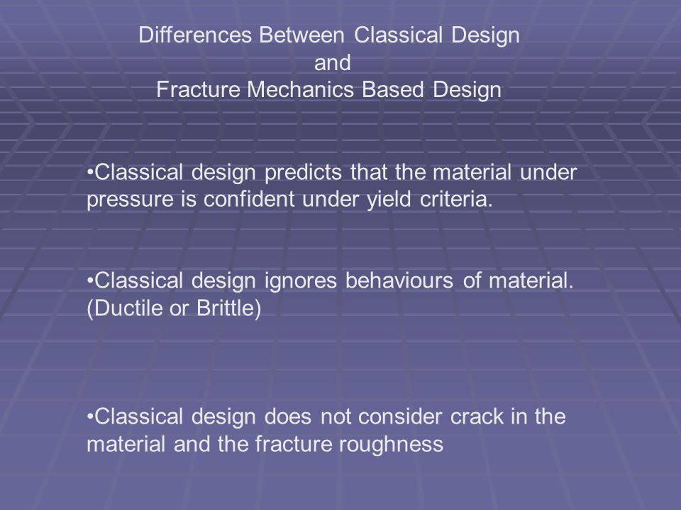 Differences Between Classical Design and