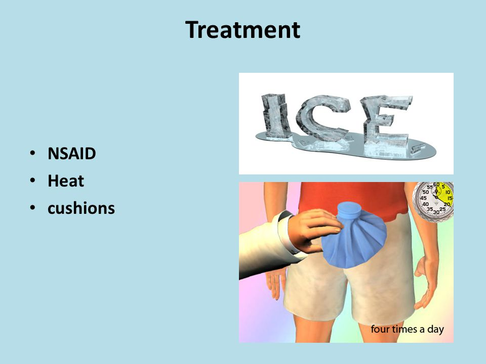 Treatment NSAID Heat cushions