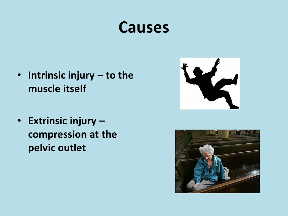 Causes Intrinsic injury – to the muscle itself